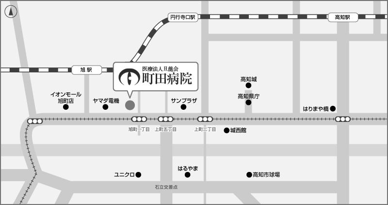 アクセスマップ〈町田病院・高知県眼科〉